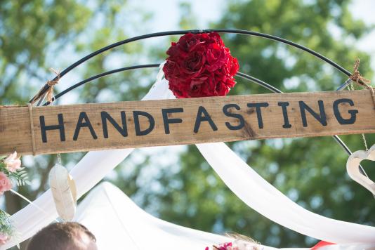 Handfasting // Photo by Nathan Dainty