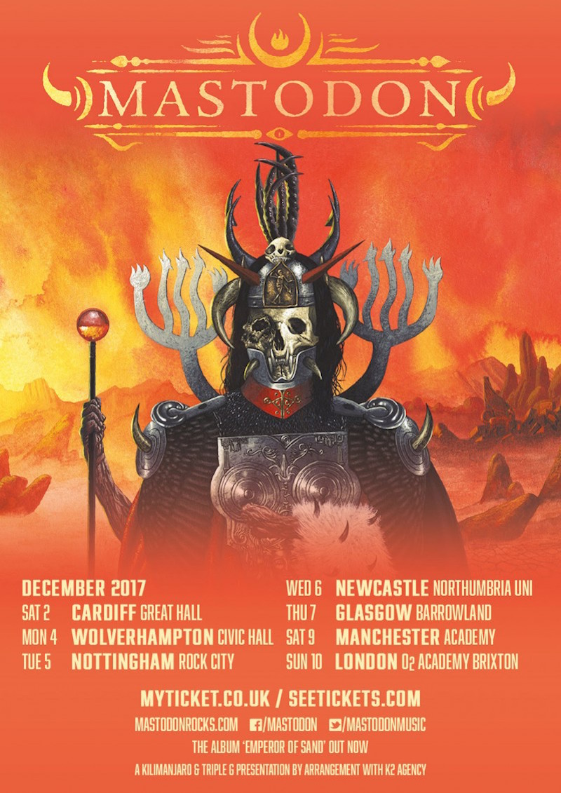 Mastodon announce new 2017 tour dates with support from Eagles of Death Metal and Russian Circles