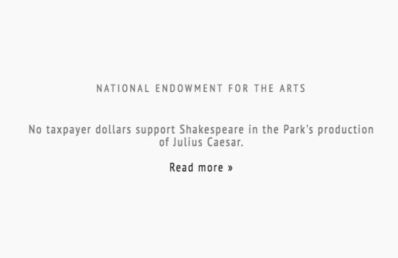 NEA website updated to protect President Trump's frail ego