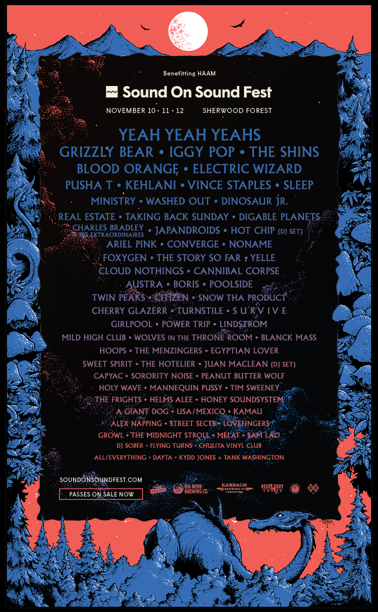 sos fest 2017 music lineup full poster Yeah Yeah Yeahs make live comeback at Austins Sound on Sound Festival