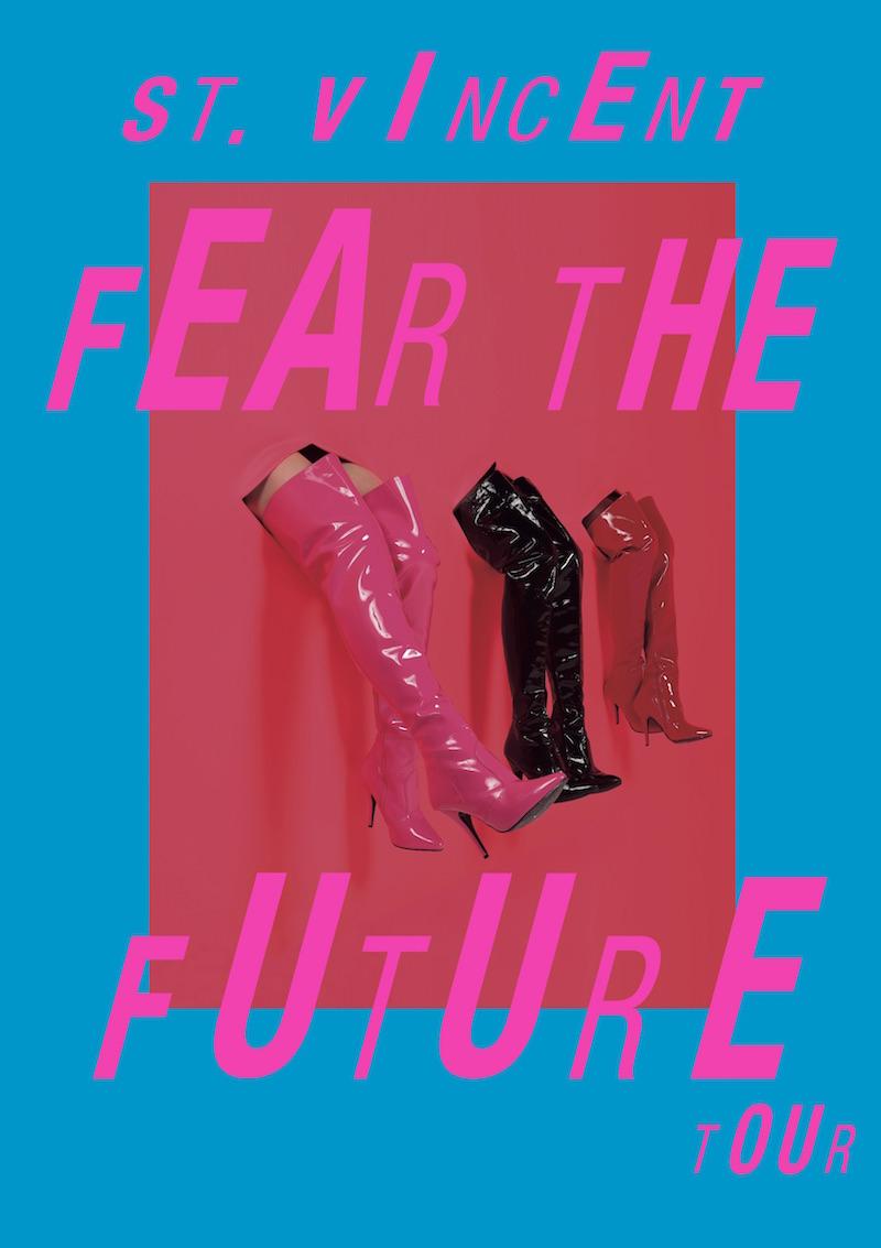 st vincent 2017 tour dates fear future St. Vincent announces 2017 Fear the Future tour