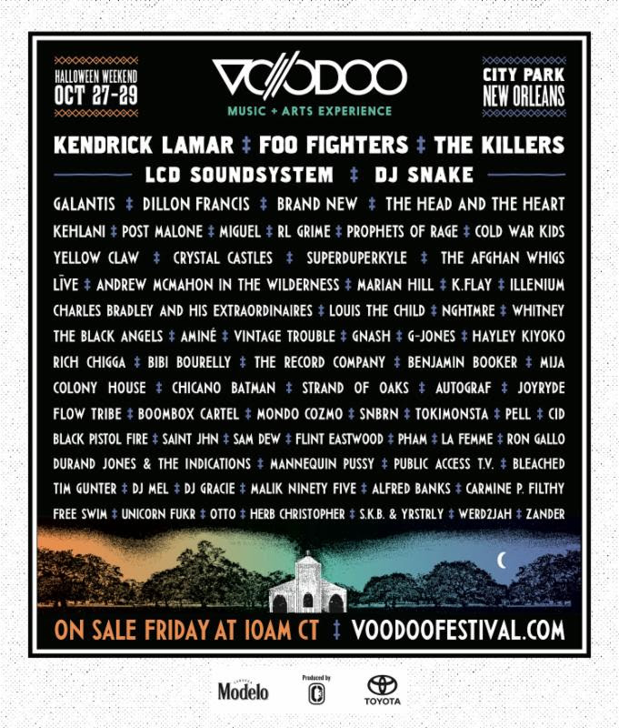 unnamed 33 Voodoo Experience 2017 lineup: Foo Fighters, Kendrick Lamar, LCD Soundsystem to headline