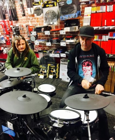 """Beaverton, Oregon Guitar Center electric drum off"""