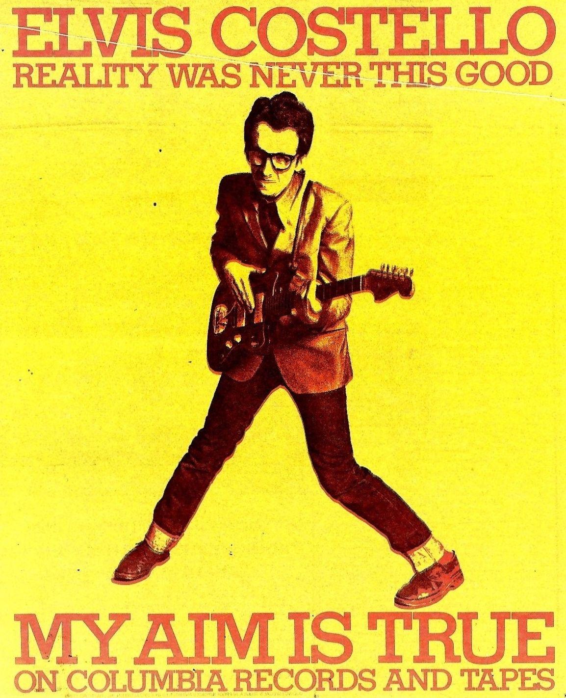 photo 1977 myaim advert2 950 10 Times Elvis Costellos Aim Was True