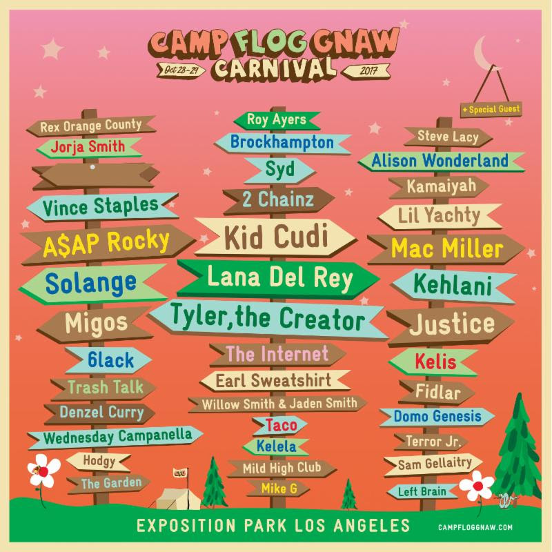 unnamed 76 Tyler the Creator reveals Camp Flog Gnaws impressive 2017 lineup