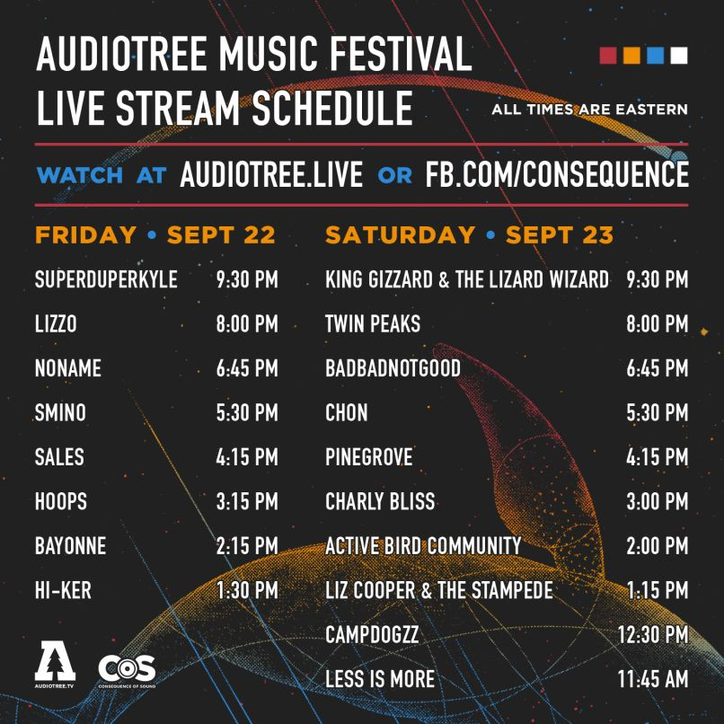 atmf live stream 1x1 1 Consequence of Sound to live stream this weekends Audiotree Music Festival