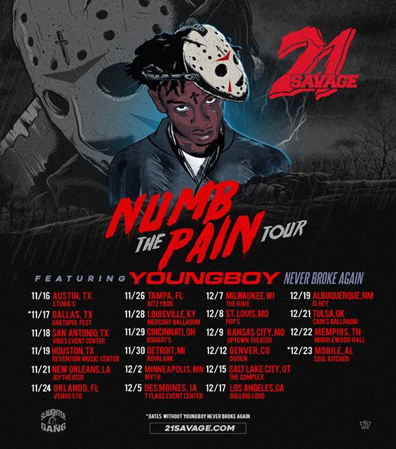 image002 1 21 Savage announces Numb the Pain North American tour
