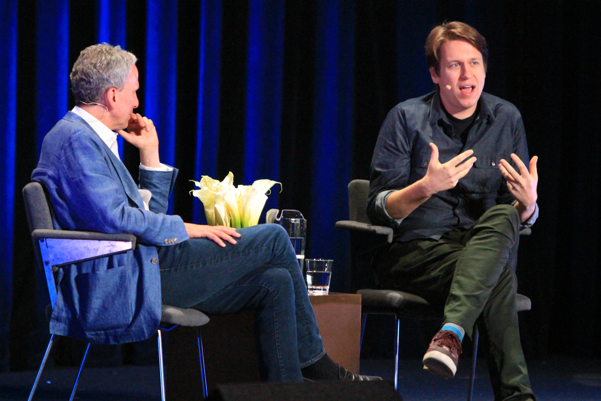 Bob Roth and Pete Holmes // Photo by Heather Kaplan