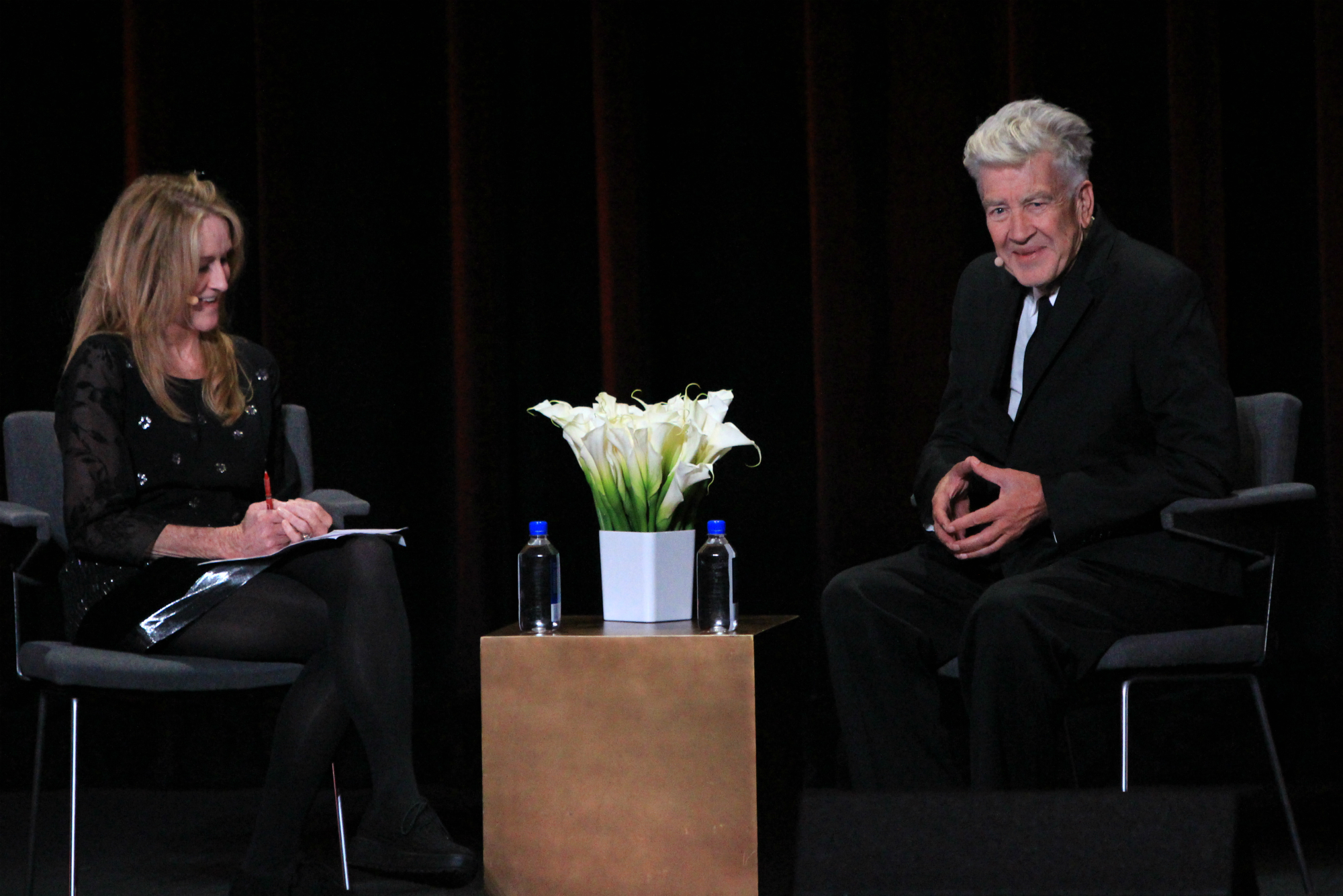 Kristine McKenna and David Lynch, photo by Heather Kaplan