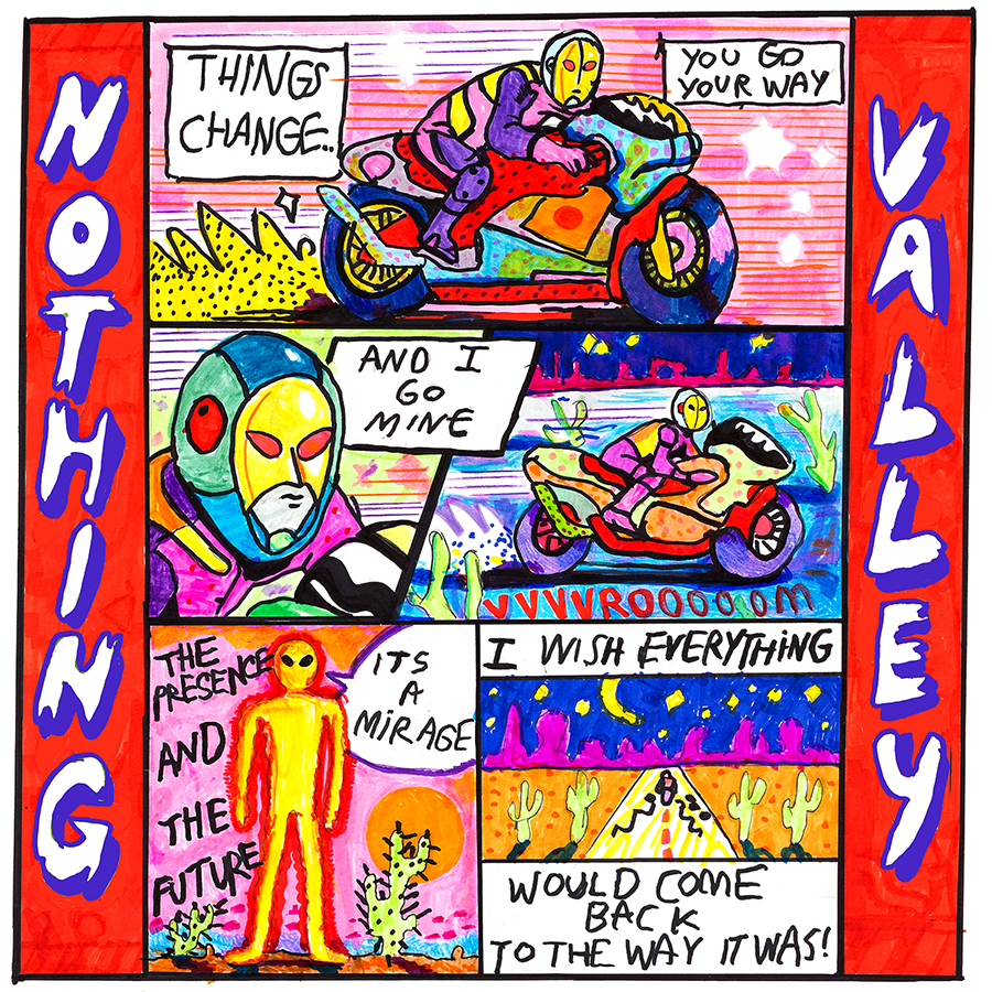 melkbelly nothingvalley albumart Artist of the Month Melkbelly on Family Matters, Van Life, and Keeping Gross but Cute