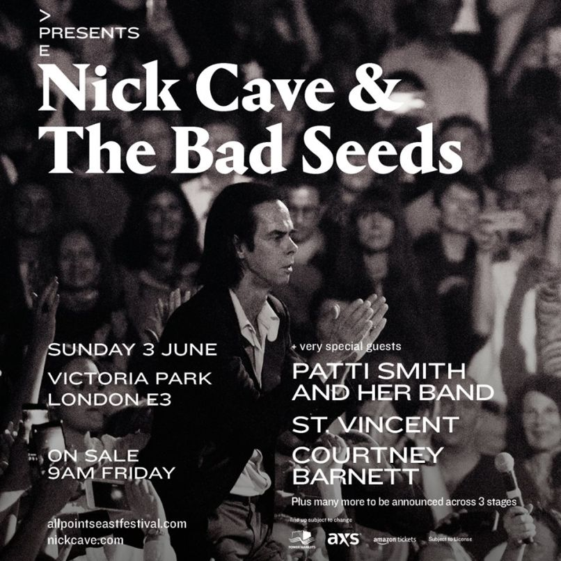 nick cave All Points Easts 2018 lineup is indieheads dream come true
