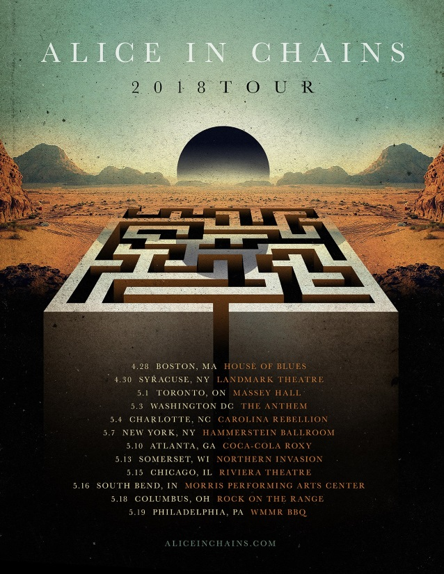 aliceinchains2018tourposter Alice in Chains announce North American tour for 2018