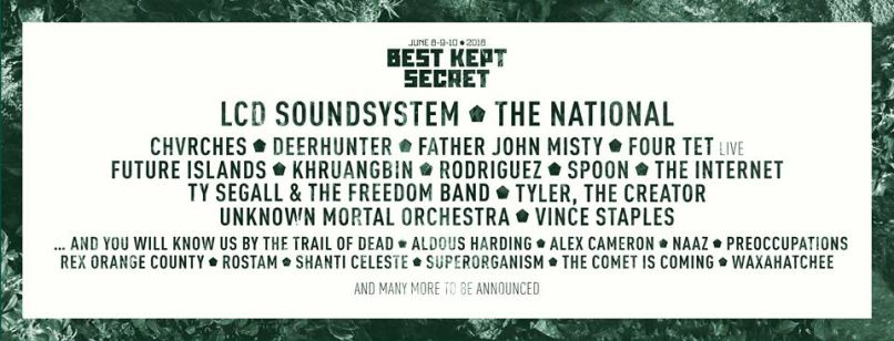 best kept The 2018 lineup for Best Kept Secret is indie gold