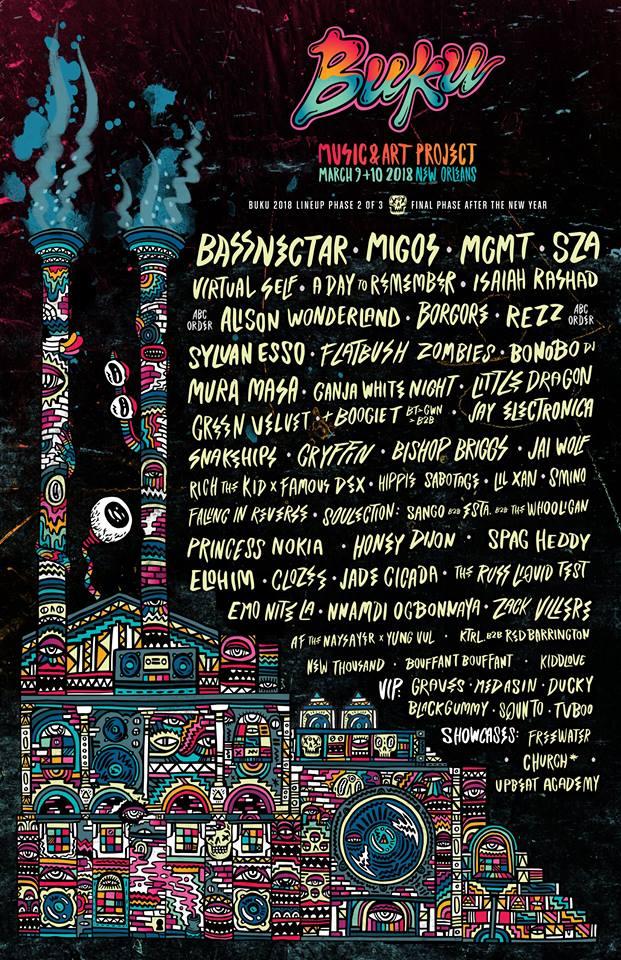 buku1 Buku Music + Art Project reveals 2018 lineup: MGMT, SZA, Migos, Jay Electronica among highlights