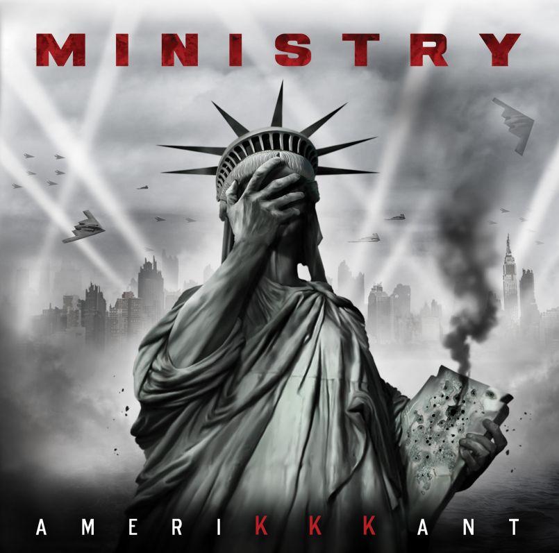 ministry amerikkkant album cover hi Ministry unveil new album, AmeriKKKant: Stream