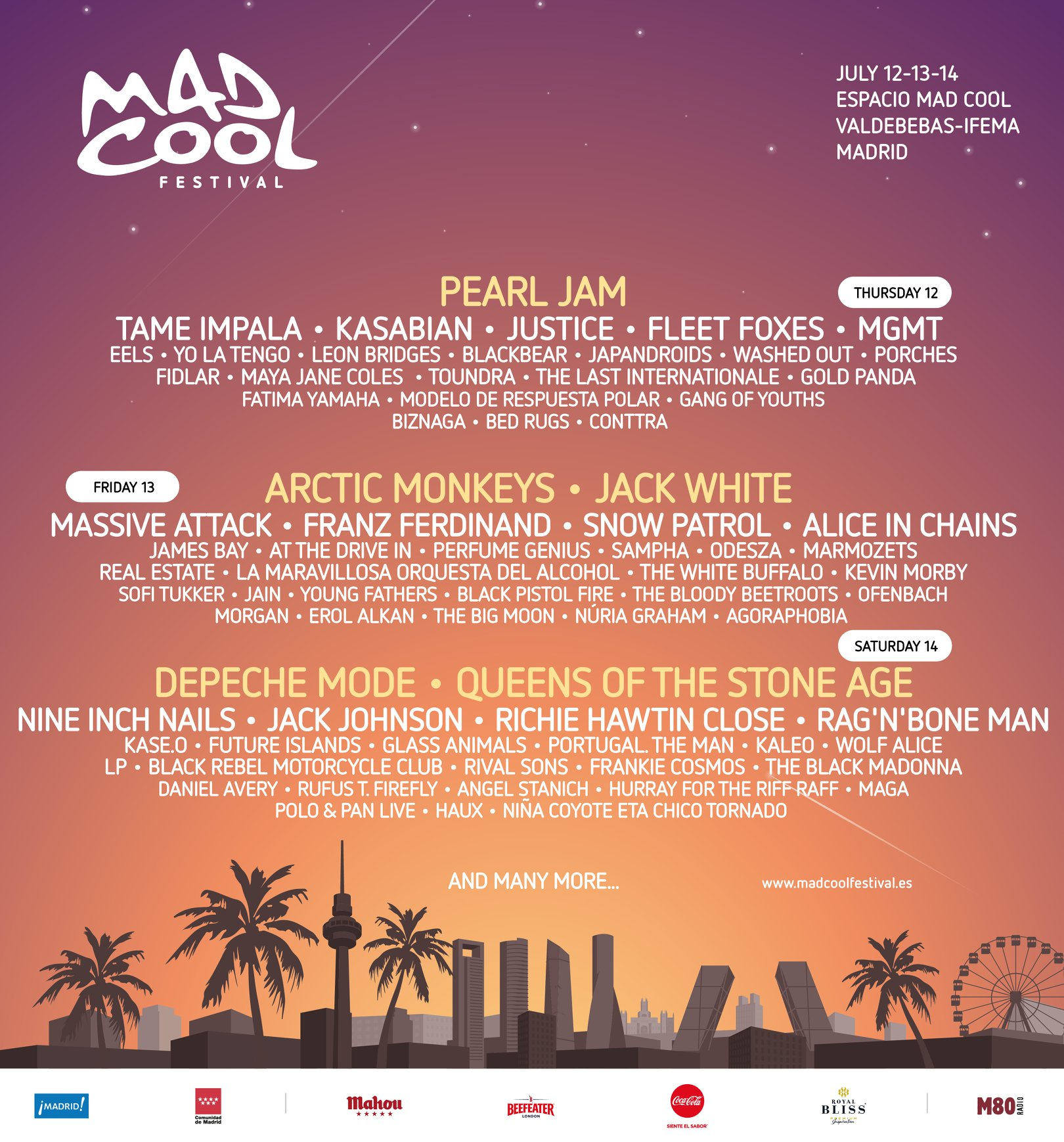 arctic monkeys mad cool Mad Cool Festival adds Arctic Monkeys, cementing its status as the years best rock festival