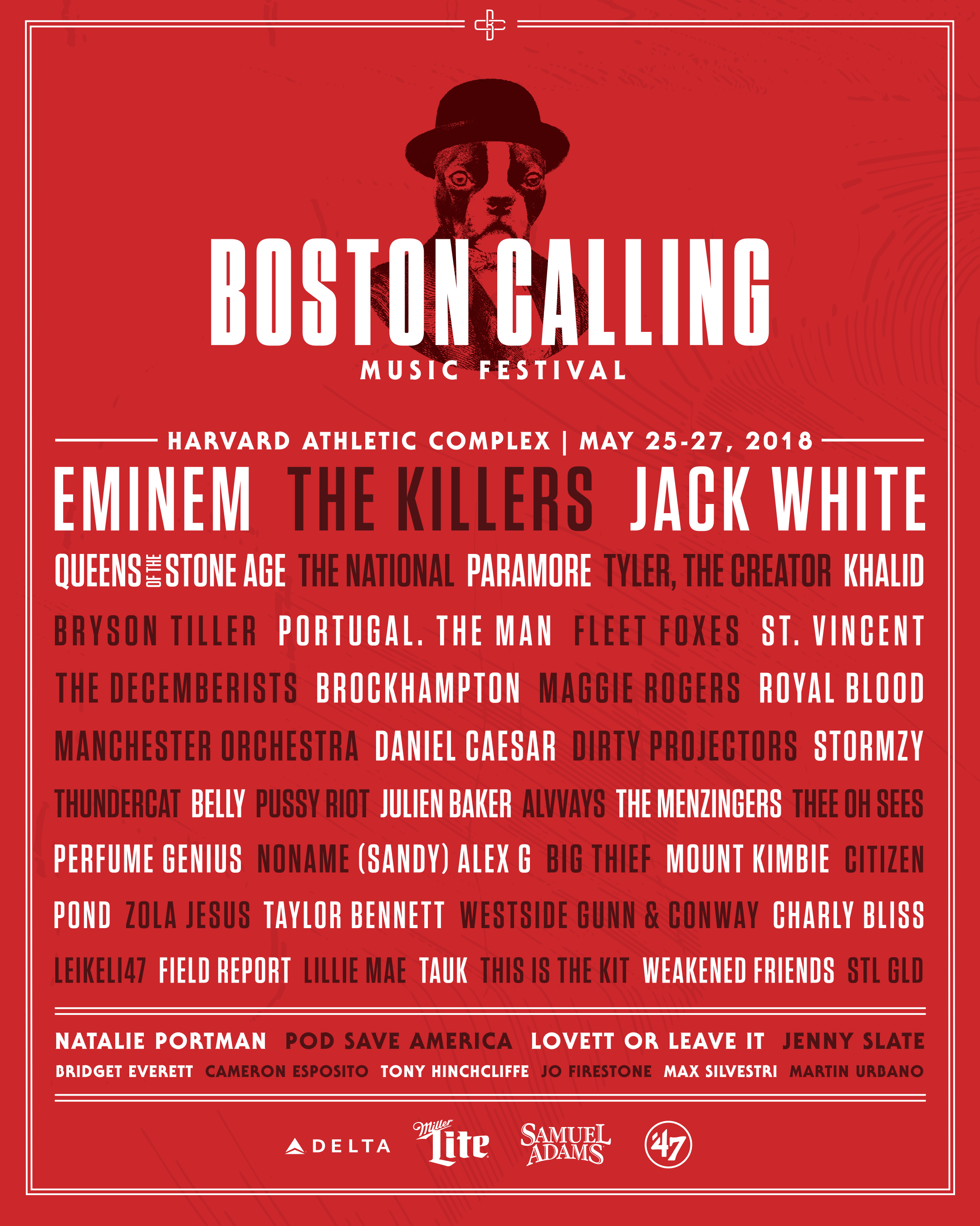 boston calling 2018 lineup admat Boston Calling announces 2018 lineup: Eminem, Jack White, The Killers to headline
