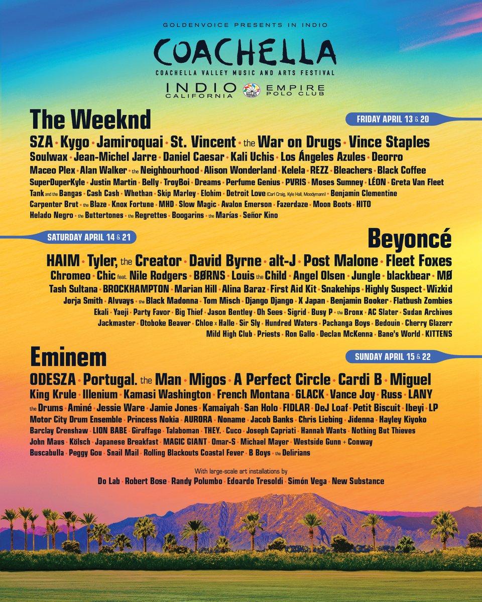 coachella 2018 Coachella's 2018 Lineup: One Day Later