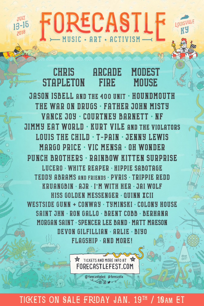 f18 lineup 1080x1620 Forecastle Festival reveals 2018 lineup: Arcade Fire, Modest Mouse, Courtney Barnett among highlights