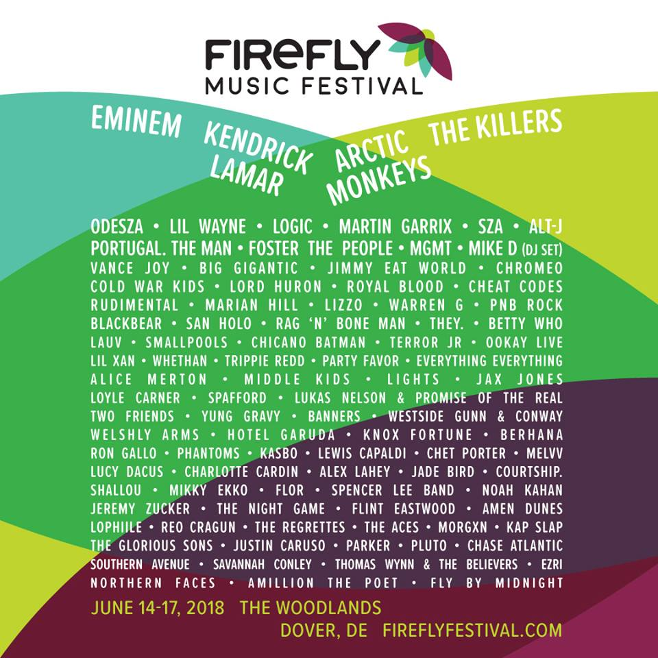 firefly festival Win VIP passes to Firefly Music Festival 2018