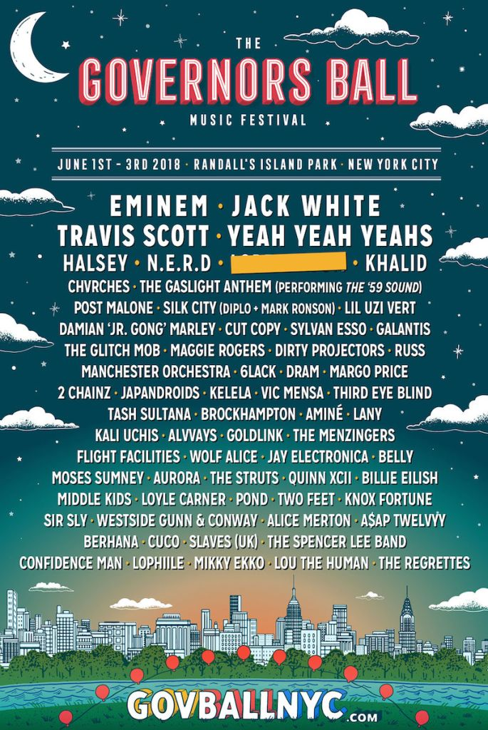 gb18 admat full lineup final 1200 Governors Ball reveals 2018 lineup: Jack White, Eminem, Yeah Yeah Yeahs to headline