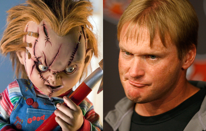 jon gruden chucky California driver caught using Chucky doll as a passenger in the carpool lane