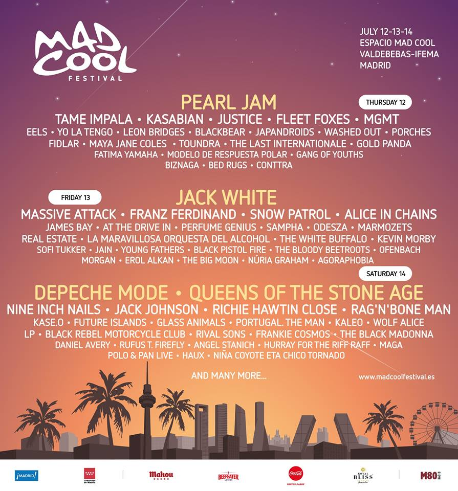 mad cool 3 Mad Cool Festival, already the years best lineup, adds Jack White