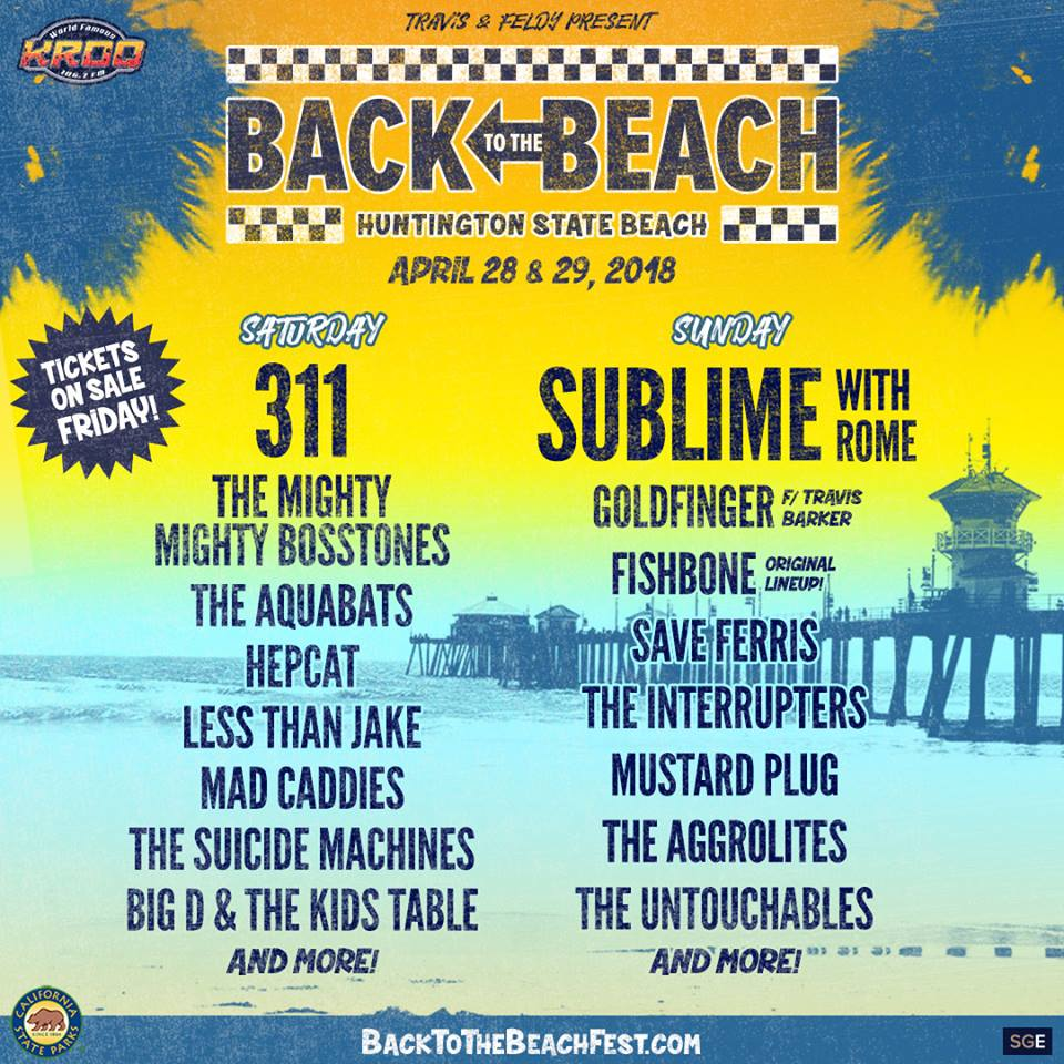 back to the beach 2018 Who needs Coachella when you can go Back to the Beach?