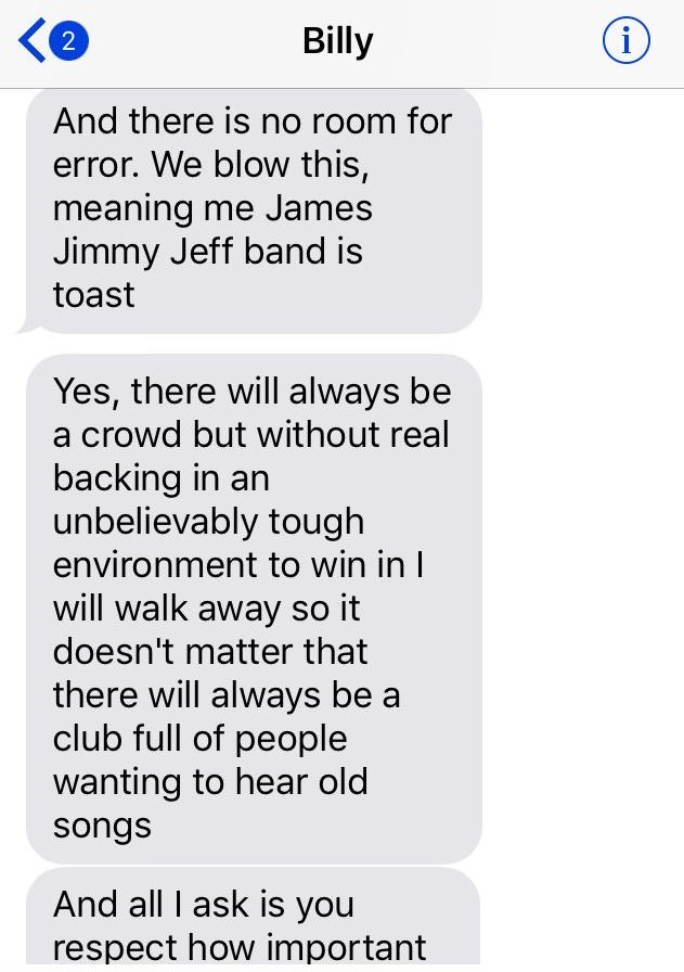 bilyl darcy 10 Darcy Wretzky shares text messages as proof that Billy Corgan is lying about Smashing Pumpkins reunion offer