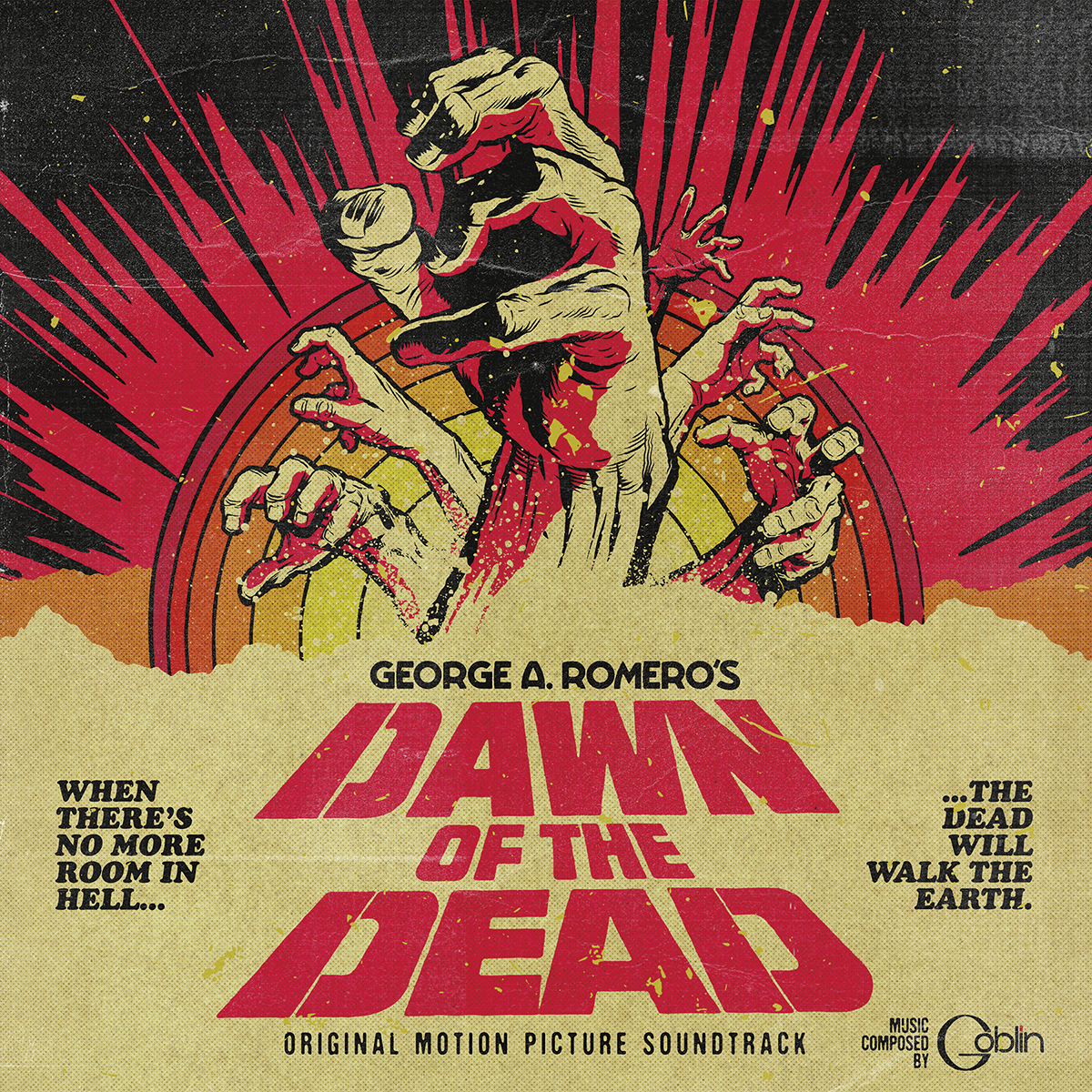Dawn of the Dead vinyl reissue cover artwork