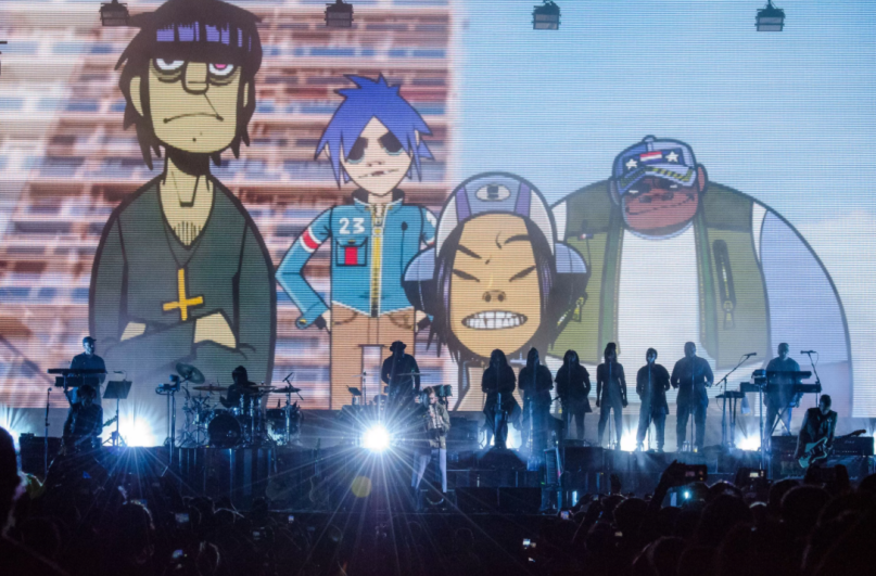 Gorillaz, photo by Ben Kaye