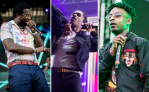 Gucci Mane, ASAP Rocky, 21 Savage, photos by Cat Miller (left) and Philip Cosores (center, right)