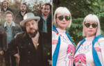 Nathaneil Rateliff & The Night Sweats and Lucius, photos by Brantley Gutierrez (L) and David Brendan Hall (R)