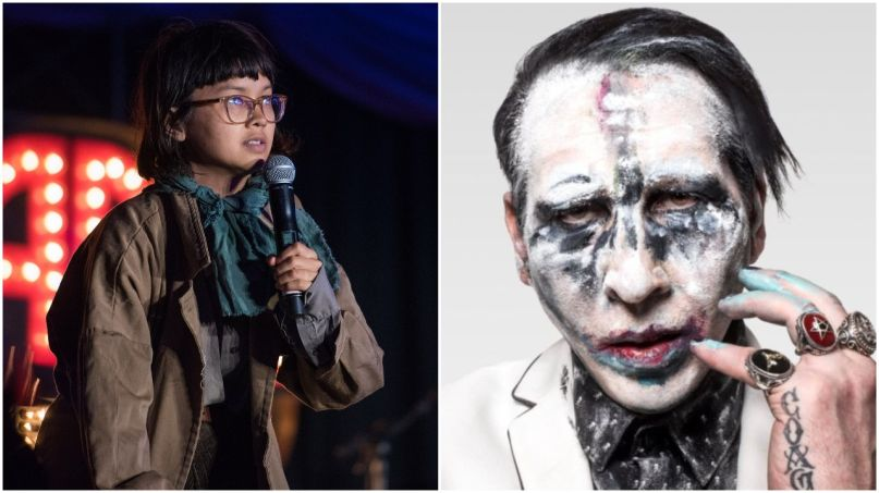 Charlyne Yi and Marilyn Manson