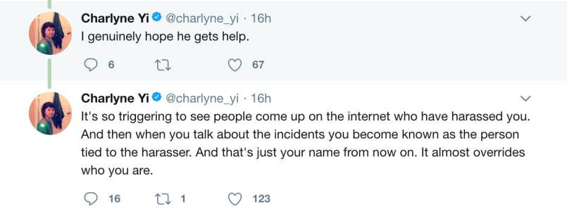 screen shot 2018 02 17 at 1 38 44 pm Comedian Charlyne Yi accuses Marilyn Manson of harassment and racism