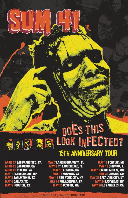unnamed 80 Sum 41 announce Does This Look Infected? 15th anniversary tour of North America