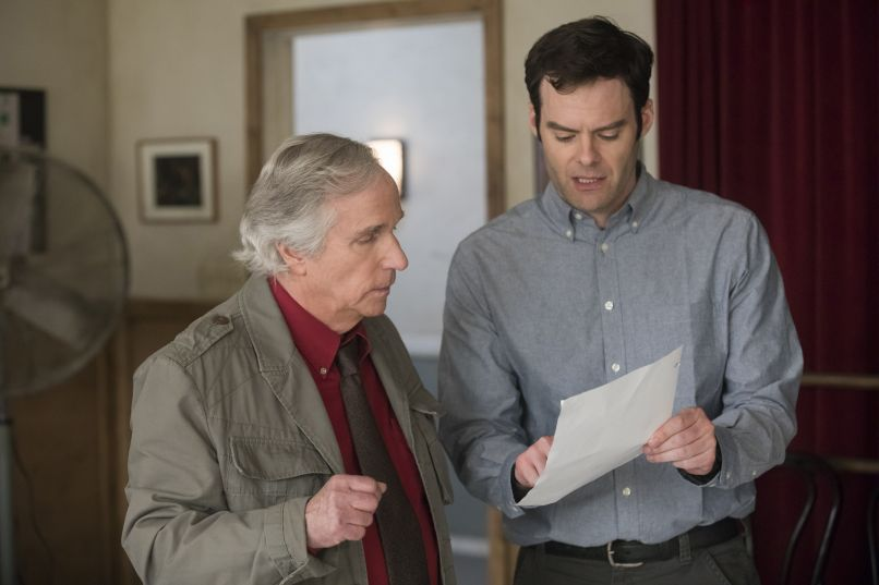 Bill Hader and Henry Winkler in Barry, photo by John P. Johnson