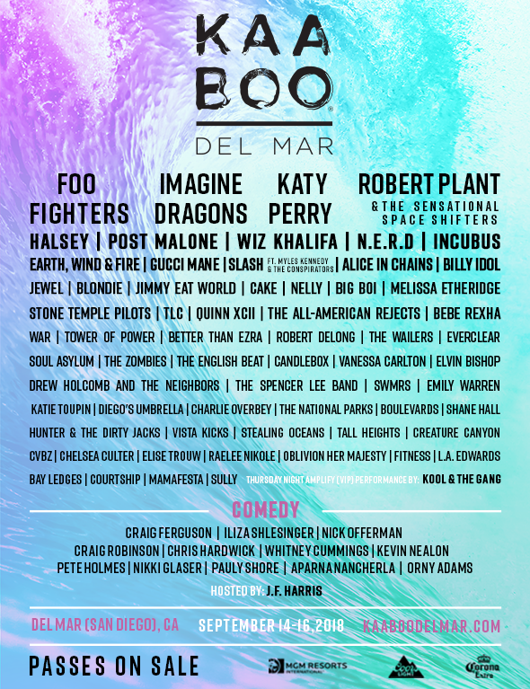 cos lineup 031518 KAABOO Del Mar reveals 2018 lineup: Foo Fighters, Katy Perry, and Robert Plant to headline