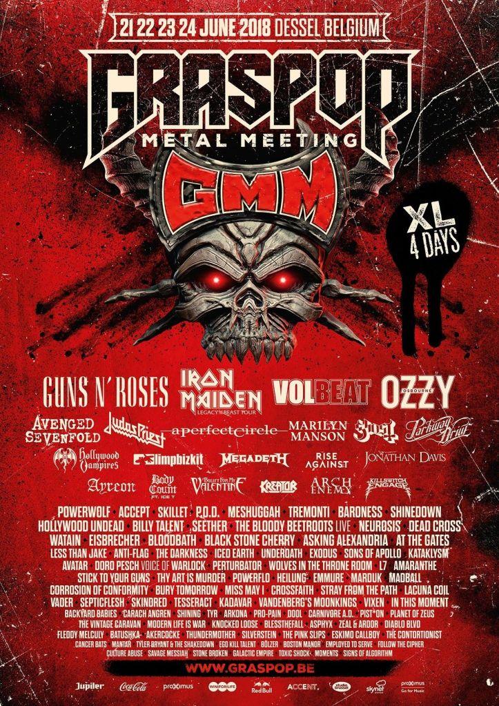 grasspop Graspop Metal Meetings 2018 lineup is a mecca for hard rock and heavy metal fans