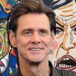 Jim Carrey's Sarah Sanders and Donald Trump portraits