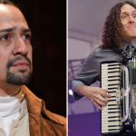 "Lin-Manuel Miranda and ""Weird Al"" Yankovic, photo by Ben Kaye (L)"