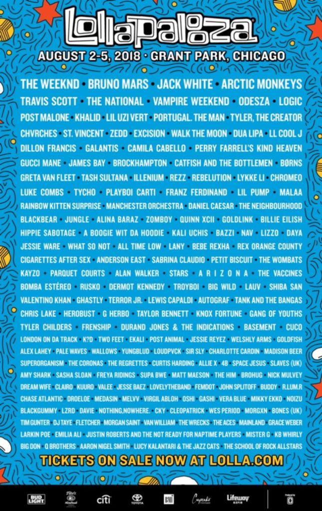 lollapalooza 2018 lineup Lollapalooza reveals 2018 lineup: Jack White, Arctic Monkeys, Vampire Weekend among highlights