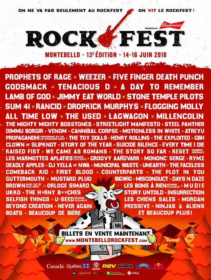montebello rock fest Montebello Rock Fest reveals 2018 lineup