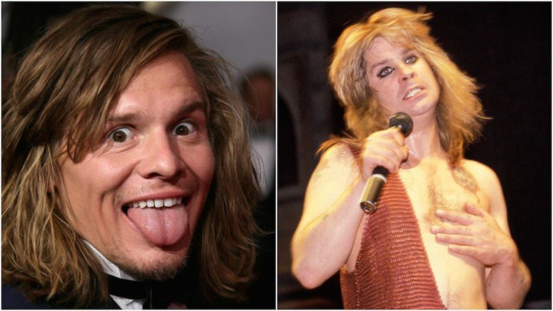 Tony Cavalero (left), Ozzy Osbourne (right)