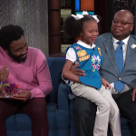 Donald Glover buys all the cookies on Late Show with Colbert
