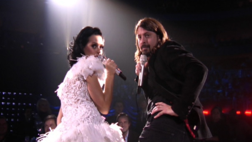 Dave Grohl with Katy Perry