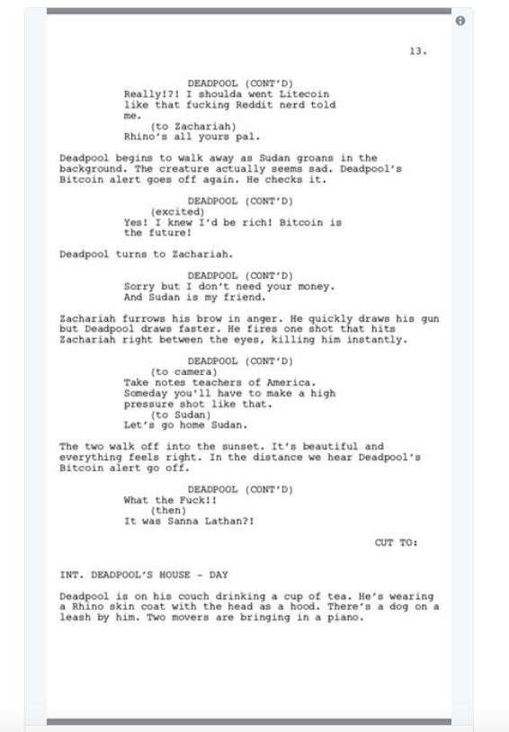 screen shot 2018 03 28 at 10 03 26 am Donald Glover shares script for finale to canceled Deadpool animated TV series