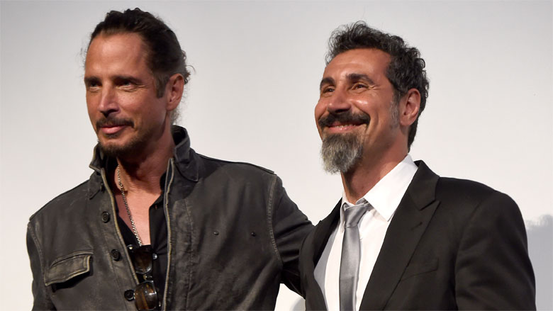 Serj Takian with Chris Cornell