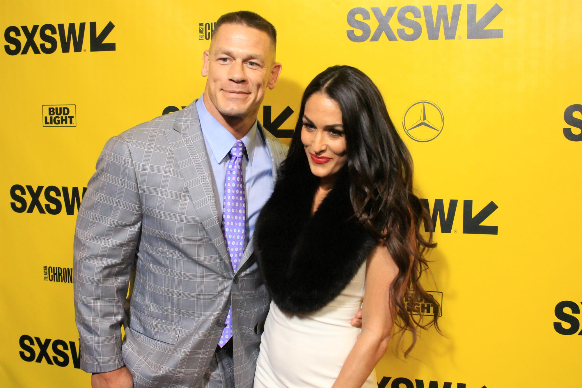 John Cena and Nikki Bella // Blockers, photo by Heather Kaplan