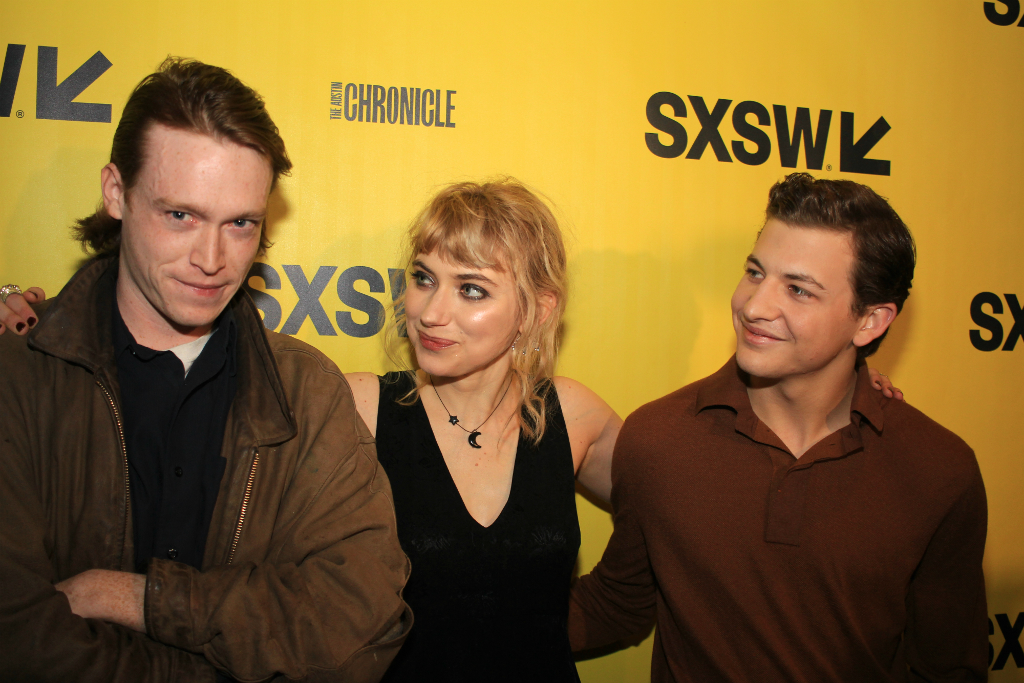 Caleb Landry Jones, Imogen Poots, and Tye Sheridan // Friday's Child, photo by Heather Kaplan